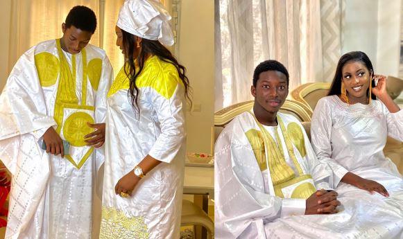 Sagnsé de Korité:Admirez la belle complicité entre le fils d'Aly Ngouille Ndiaye et sa mère