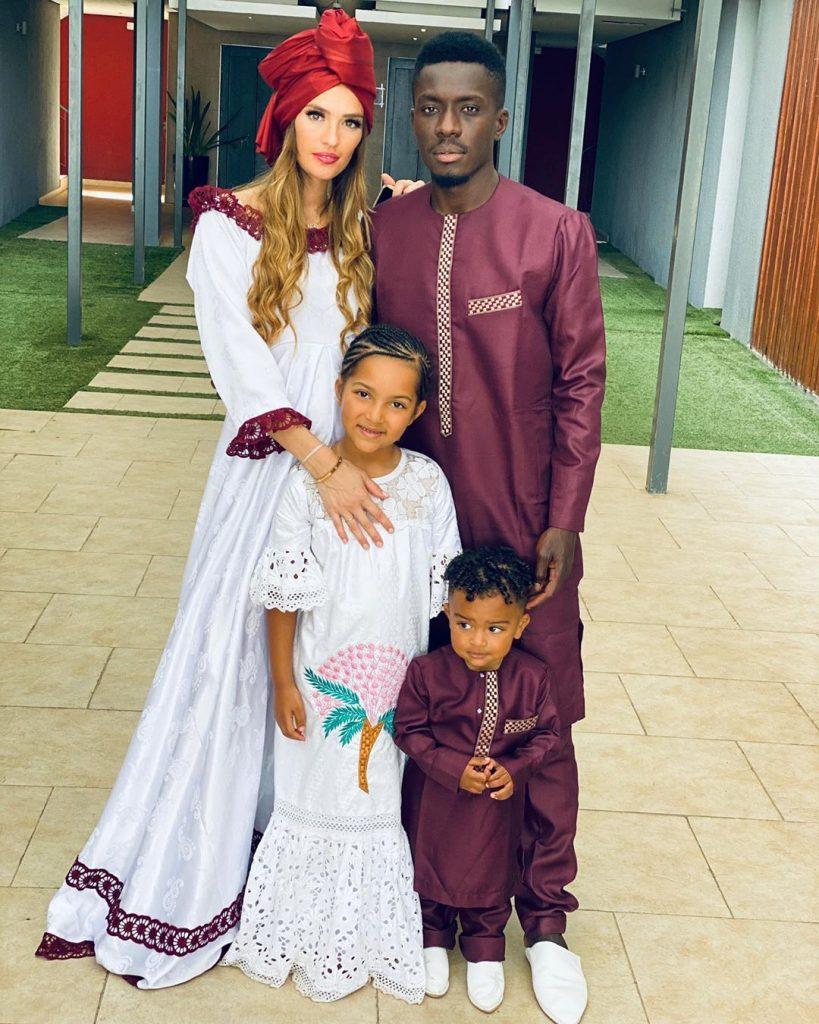 korité d'Idrissa Gana Gueye au Sénégal avec sa petite famille