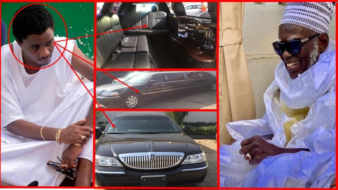 """Urgent: Waly Seck casque fort en offrant un super limousine au khalife général des mourides Serigne Mountakha Bassirou come """"adya"""""""