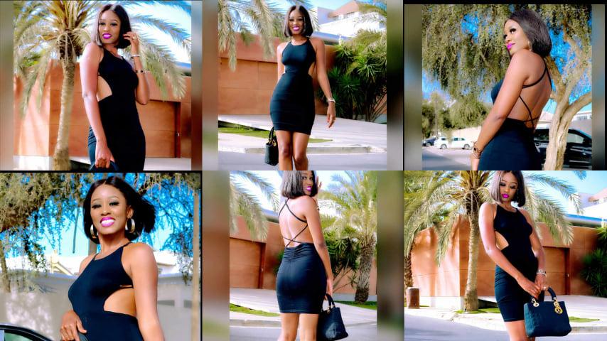 Photos : Robe noire provocatrice, Queen Biz confirme son stature sexy