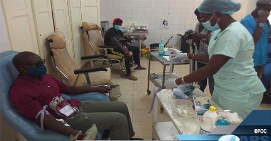 Thiès : Pastef de Ousmane Sonko donne 164 poches à la banque de sang