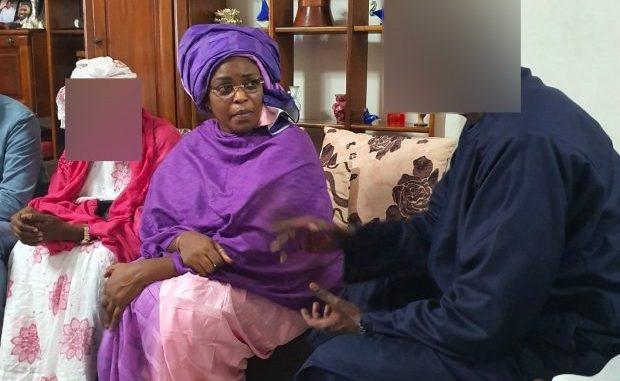 Présentation de condoléances: Marième Faye Sall chez Mimi Touré et Khalifa Sall
