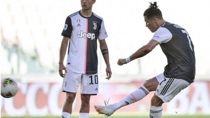 Ronaldo inscrit son premier coup franc avec la Juventus