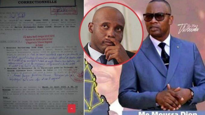 Affaire DDD – Me Moussa DIOP a joint l'acte à la parole : Il porte plainte contre Barthélémy Dias