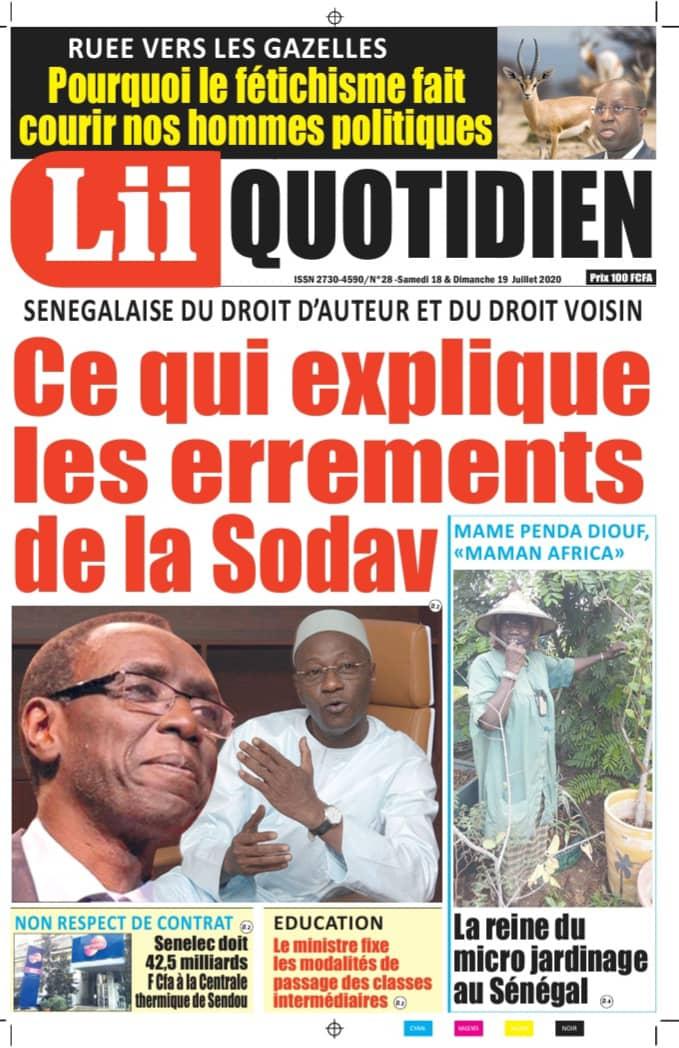 CE QUI EXPLIQUE LES ERREMENTS DE LA SODAV       Par Alpha Omar