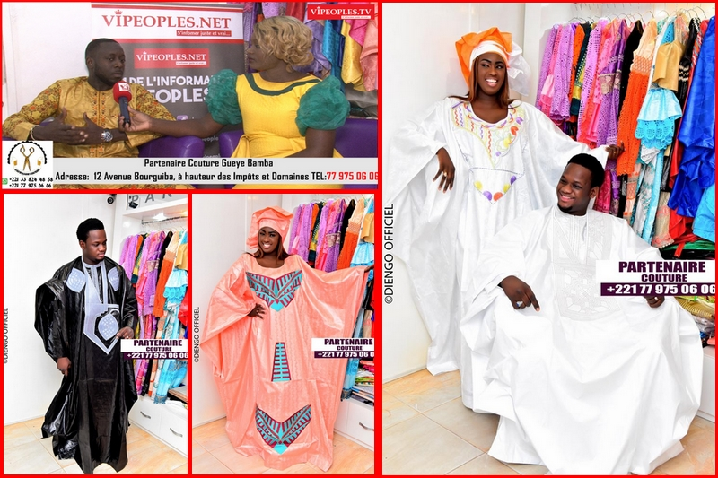 Le grand couturier Bamba Partenaire Couture à cœur ouvert fait sa démonstration de force pour ses tendances.