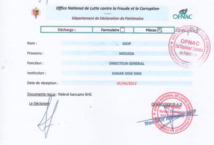 """Déclaration de patrimoine - Moussa Diop: """"Bokkuma ci moo gën du man rek""""*"""