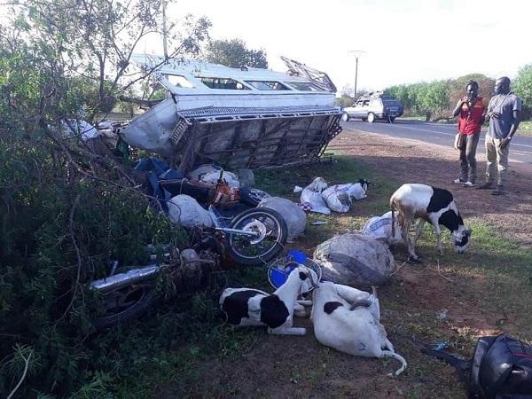 Grave accident à Louga: Un car Ndiaga Ndiaye se renverse faisant plusieurs blessés