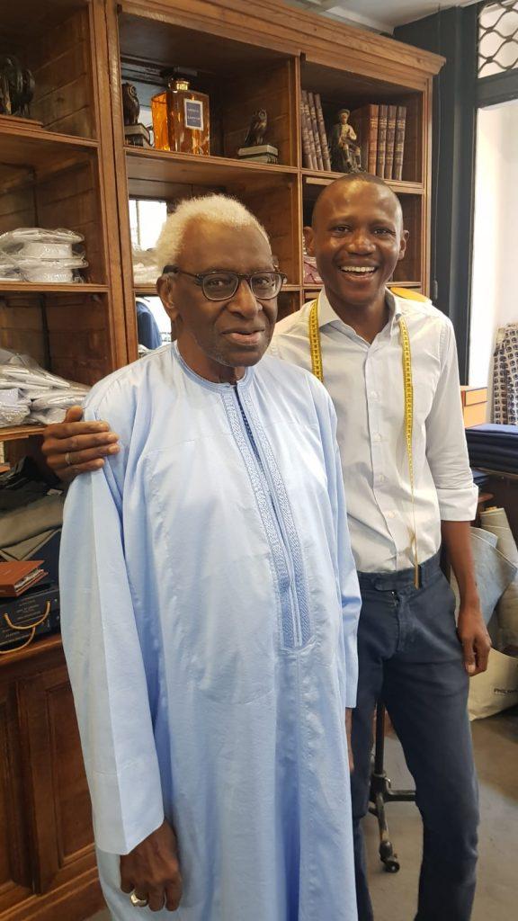 Le Président Lamine Diack est allé rendre visite à Assane Pene le fils de Oumar Pene