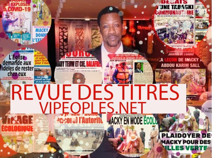 La revue des titres de TANGE,découvrez la une des quotidiens du jour