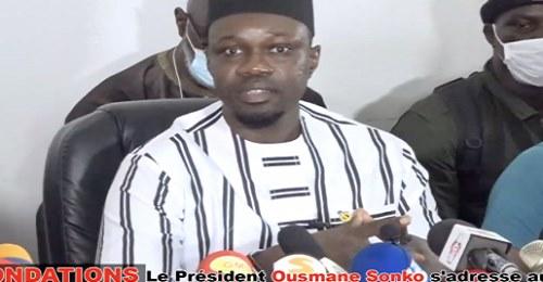 Inondations, troisième mandat, chef de l'opposition : Ce qu'il faut retenir du discours de Sonko