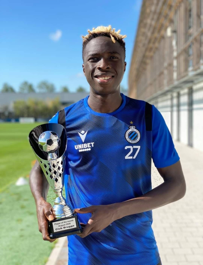 FC Bruges : Yousouph Badji désigné joueur du mois d'août.