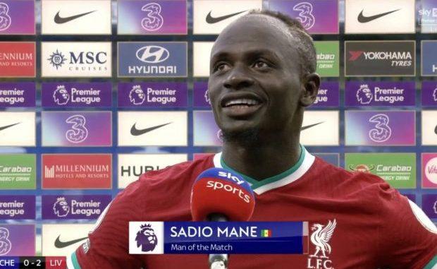 La Réaction de Sadio Mané après son doublé face à Chelsea