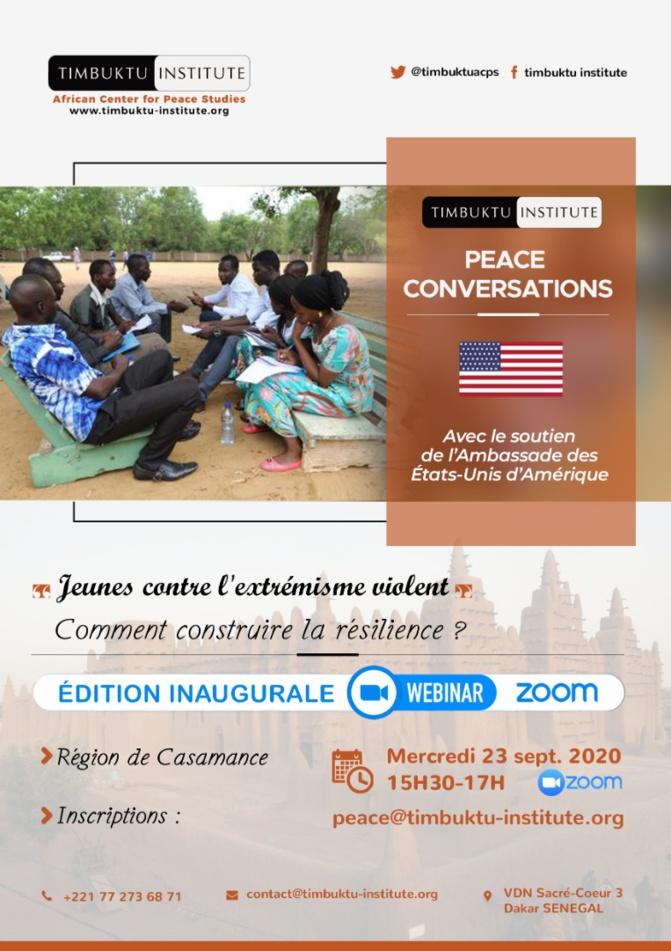 « Peace Conversations », les premiers Webinaires Zoom en Casamance.