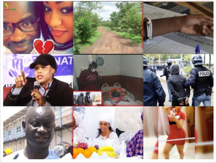 100/100 Péoples:Escroquerie Amina Pote condamne son bourreau ,P. Cheikh Diallo et sa femme vers le clash,l'ex de Balla Gaye hante le sommeil des hommes,un homme arrêté à Touba avec un calibre.  .