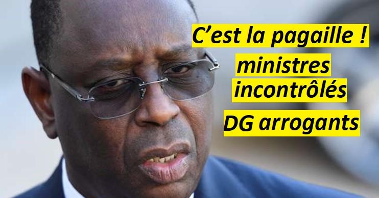 Macky maitrise-t'il toujours son gouvernement? : Pilotage à vue Cafouillage des ministres, Dg devenus incontrôlables