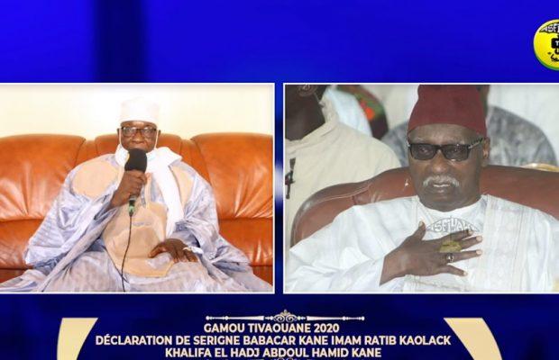 Urgent- Vidéo- GAMOU 2020: Declaration de Serigne Babacar Kane, Khalif de Leona Kanéne (KAOLACK)
