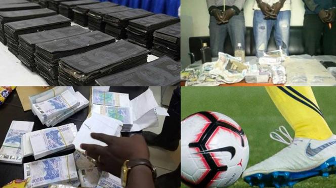 Faux Billets : Un célébre Footballeur, Un Déclarant En Douane et Un Transitaire Arrêtés Par La DIC avec 100 millions
