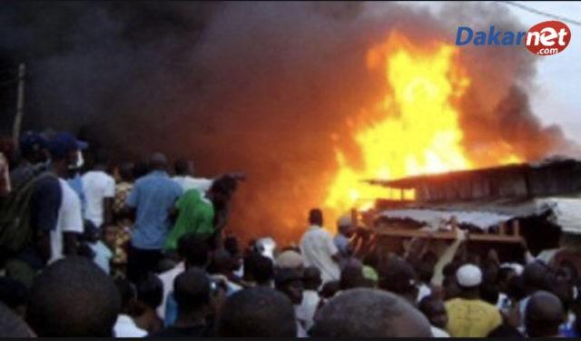 Urgent : Après le Marché de Touba, le marché de Mbacké a pris feu