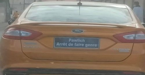 """La voiture de Pawlish """"Arrête de faire genre"""" fait marrer les internautes"""