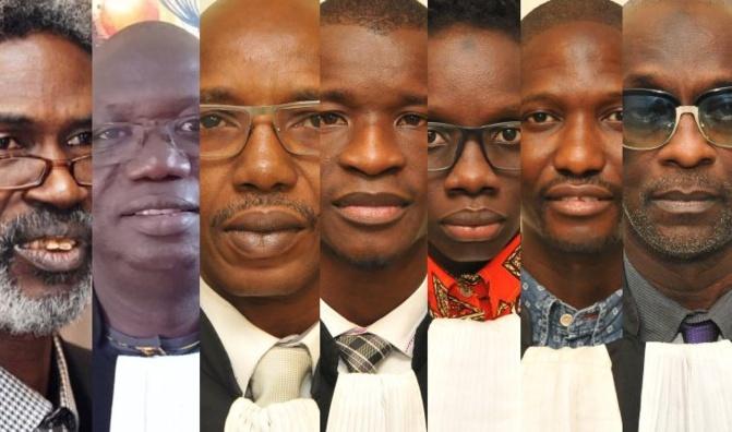 COUP DE PROJECTEUR SUR LES 7 REDOUTABLES BOUCLIERS (Avocats) D'OUSMANE SONKO