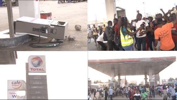Arrestation de Sonko la station Total liberté 6 complètement saccagée par les malfaiteurs