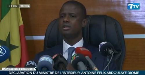 Restrictions liées à l'Etat de catastrophe sanitaire: Antoine DIOME annonce un allègement