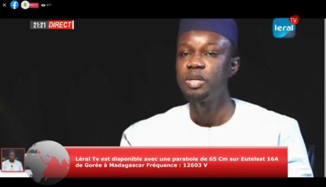 Adresse aux Sénégalais : Ousmane Sonko regrette l'image écorchée du Sénégal suite aux évènements