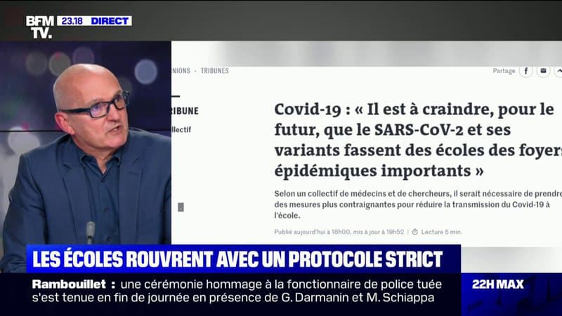 """Covid-19: pour le Dr Jérôme Marty, """"il faut préparer la rentrée scolaire de septembre dès maintenant"""""""