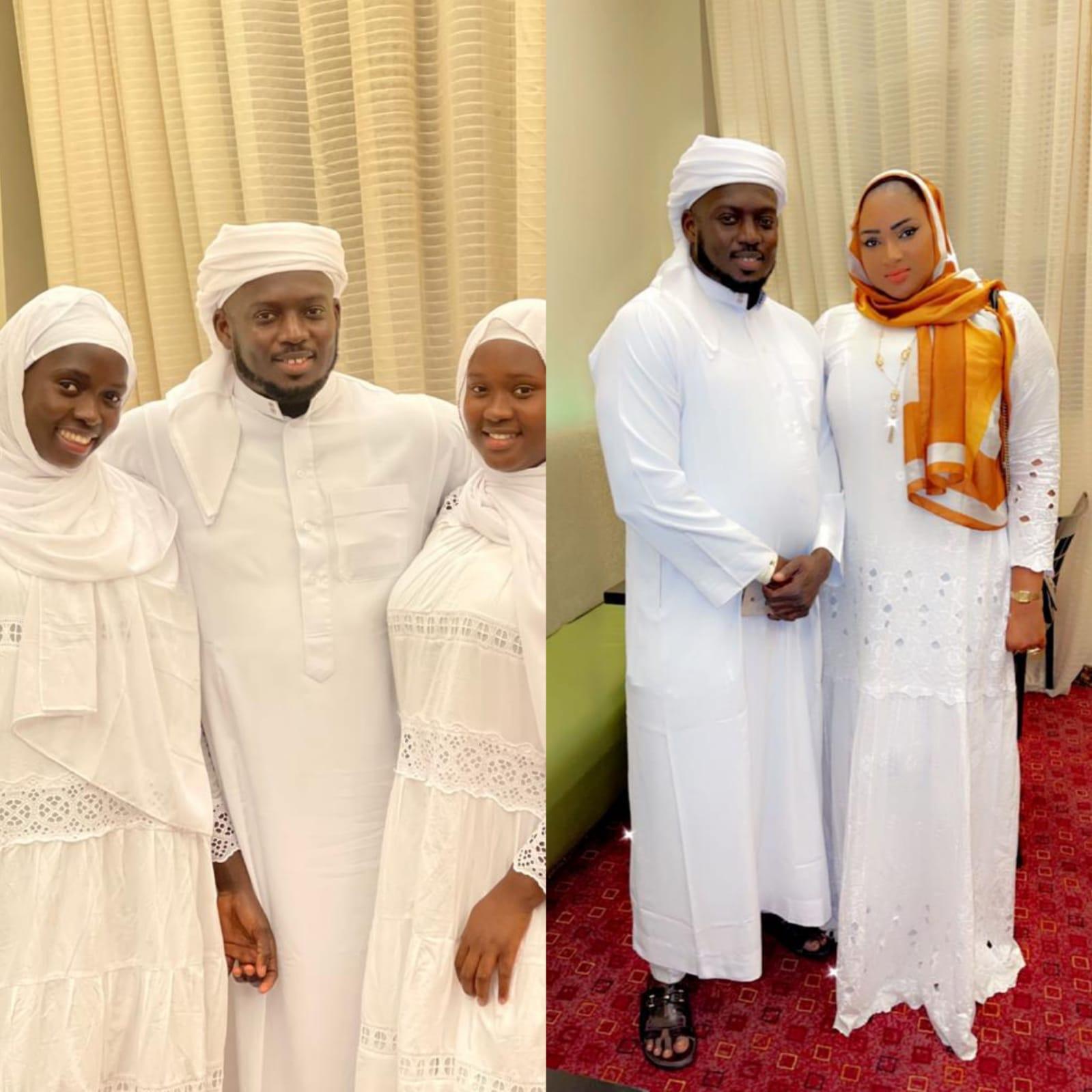 Aziz Ndiaye en compagnie de toute sa famille pour leur Oumra