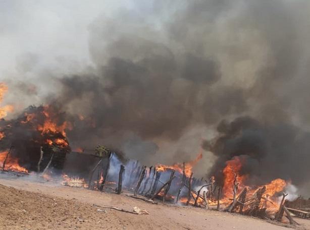 Gros dégâts à Kolda: Un grave incendie consume une vingtaine de maisons…