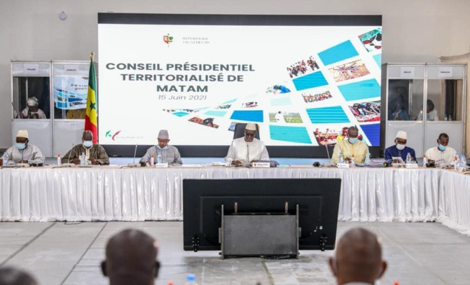 Conseil présidentiel territorialisé de Matam: Près de 249 milliards FCfa investis