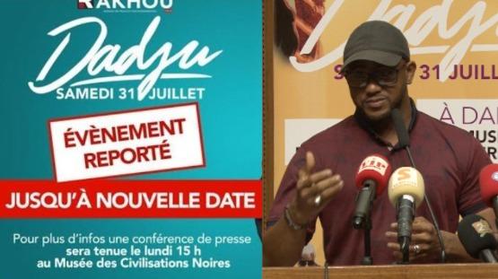 Urgent concert de Dadju du 31juillet reporté Rakhou Prod face à la presse pour des precisions et...