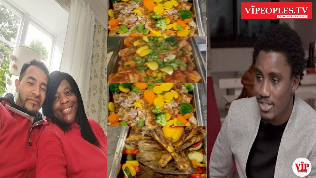 WALY Seck ambassadeur de  Be Near Homelesse Sweden offre des dons à Amina Mbaye la présidente pour nourrir les sans abris.