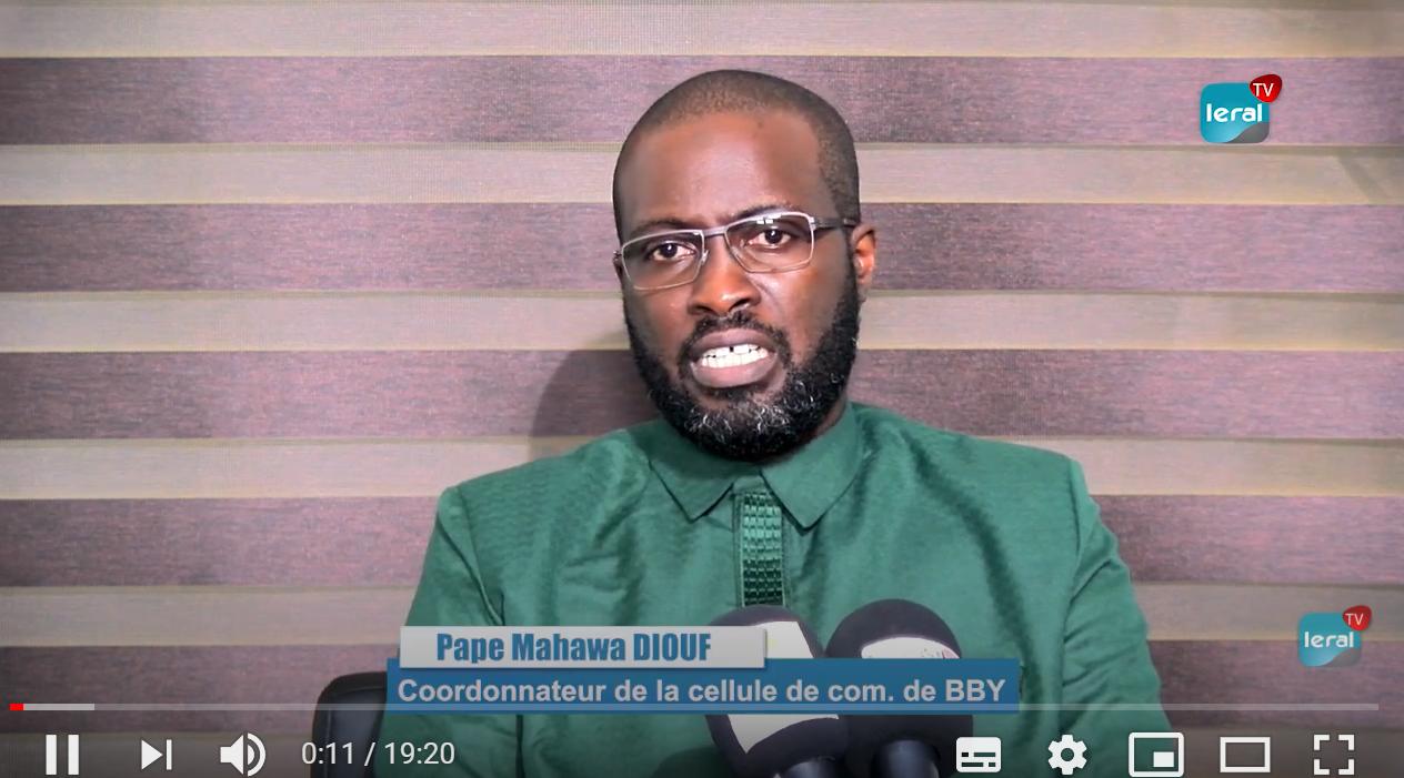 """Pape Mahawa Diouf: """"Notre vision politique dépasse les trafics et les affaires de mœurs"""""""