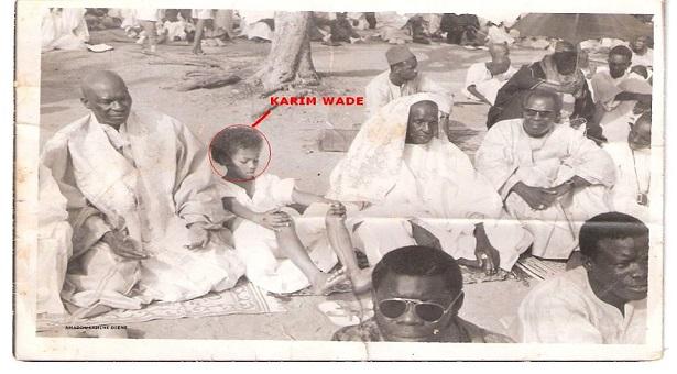 Karim Wade enfant...et son papa