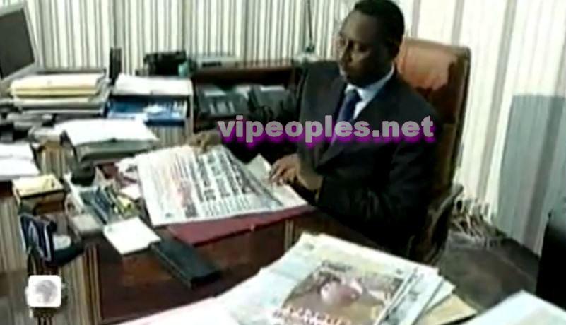 Macky Sall fait sa propre revue de presse tous les matins