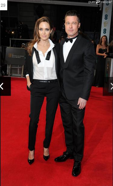 Angelina Jolie et Brad Pitt aux BAFTA 2014: Couple assorti pour 12 Years a Slave