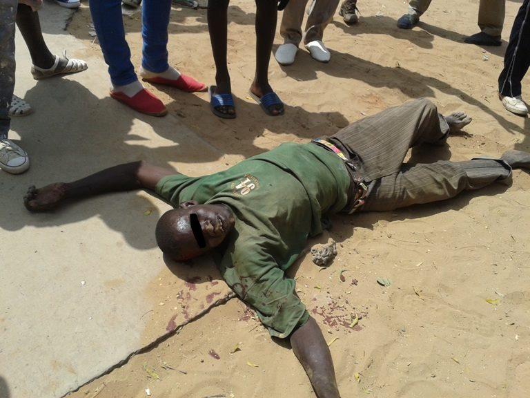 Photo:Un agresseur  échappe à la mort à Mermoz