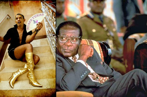 MARIAGE GAY - Barack Obama dit OUI à Robert Mugabe !