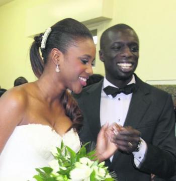 Zoom Photo: Mariage du défenseur des Lions Ceikh Mbengue avec Binetou Seck la fille de Thione Seck