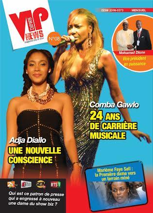 Voici la UNE du magazine VIP NEWS