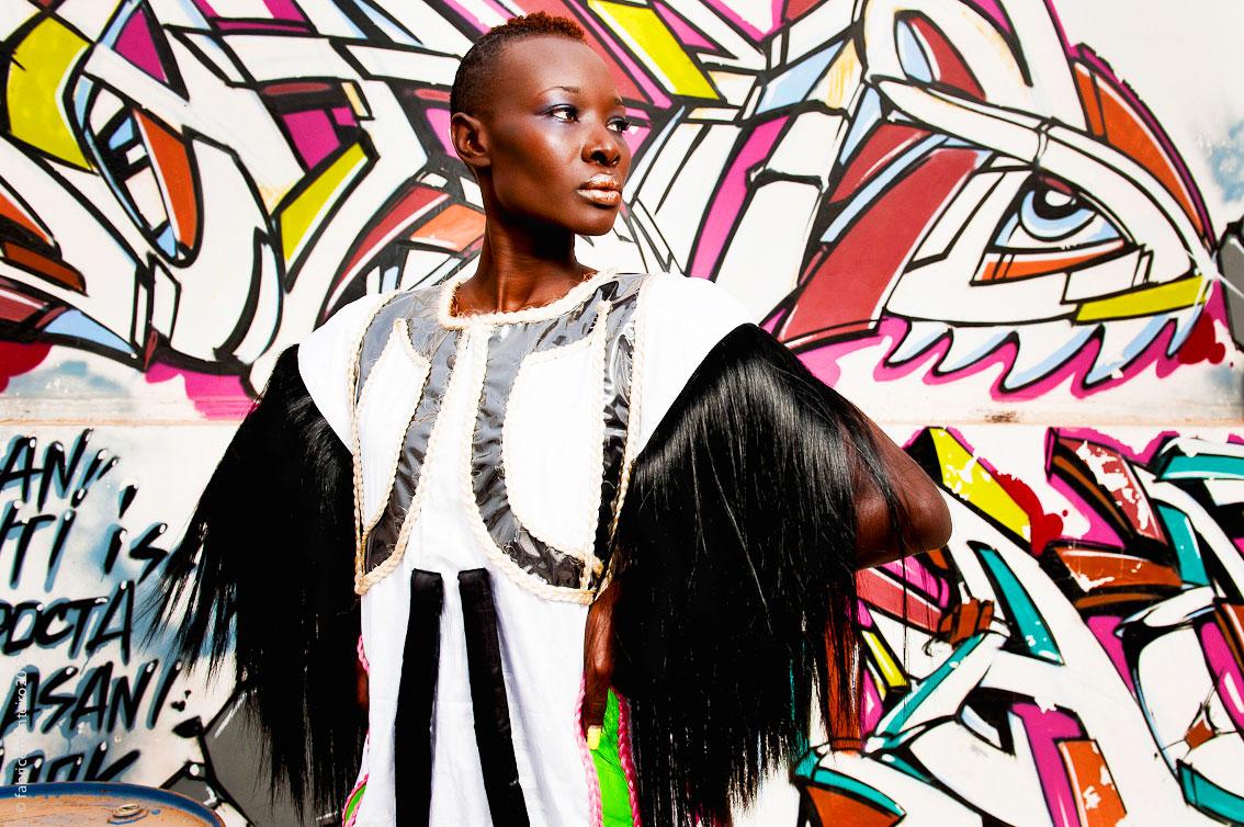 """Selly Raby Kane en """" mode """" jongué avec sa marque Seraka"""