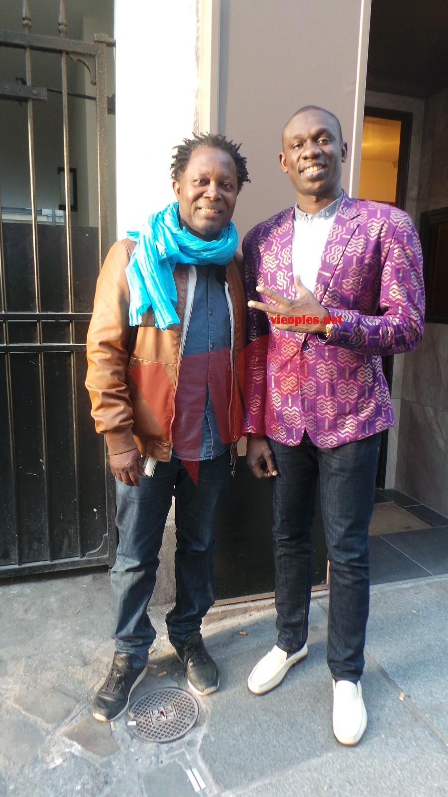 Pape Diouf chez le chanteur Luka Kanza à Paris.