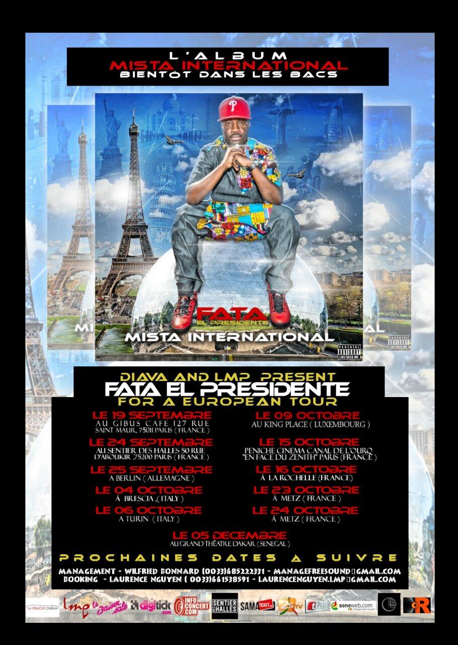 Fata El Présidente signe avec  Diava (Rock the music) une maison de Prod Française pour son album international.