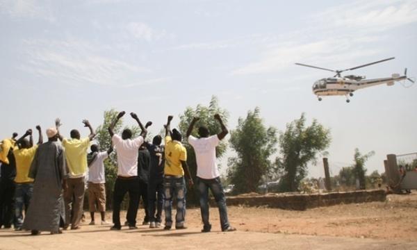 Magal de Touba: Un hélicoptère survole et surveille le chemin du retour