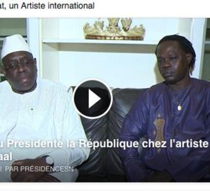 Vidéo-Le président de la République Macky Sall chez Baba Maal : l'artiste magnifie l'oeuvre du chef de l'Etat