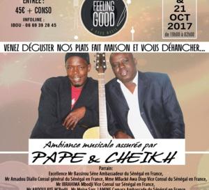 SOLI EVENTS, vous présente en acoustique le groupe de folk Pape et Cheikh au Feeling Good 99 Saint Honoré de Paris 1 ce vendredi 20 et Samedi 21 octobre.