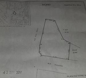 URGENT: À VENDRE UN TERRAIN TITRE FONCIER 1000 m2, RUE TOLBIAC EN VILLE CONTACT: 76573 30 76