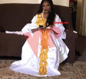 L'épouse de Baye Ndiaye, Sokhna Assy toute élégante le jour du baptéme de sa fille aux USA.
